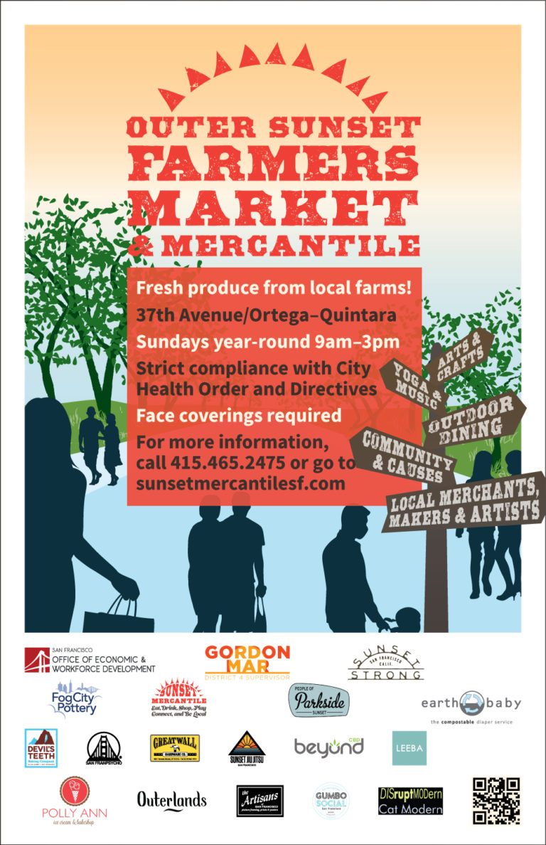 Outer Sunset Farmers Market & Mercantile 外日落区农夫市场及工艺坊