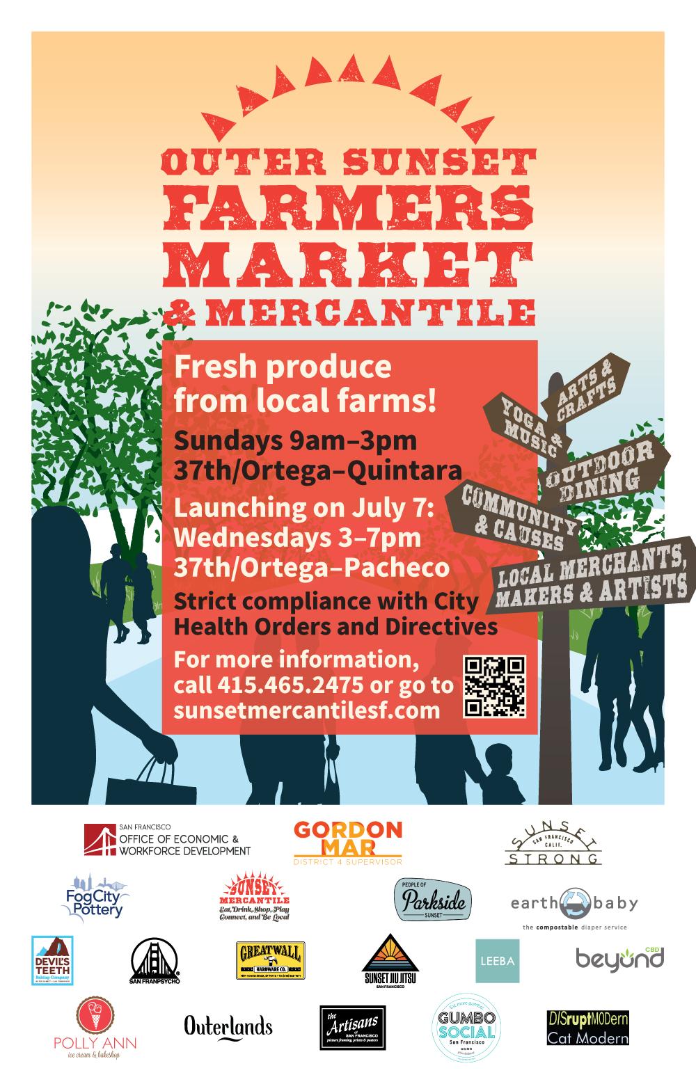 Outer Sunset Farmers Market & Mercantile 外日落区农夫市场及工艺坊