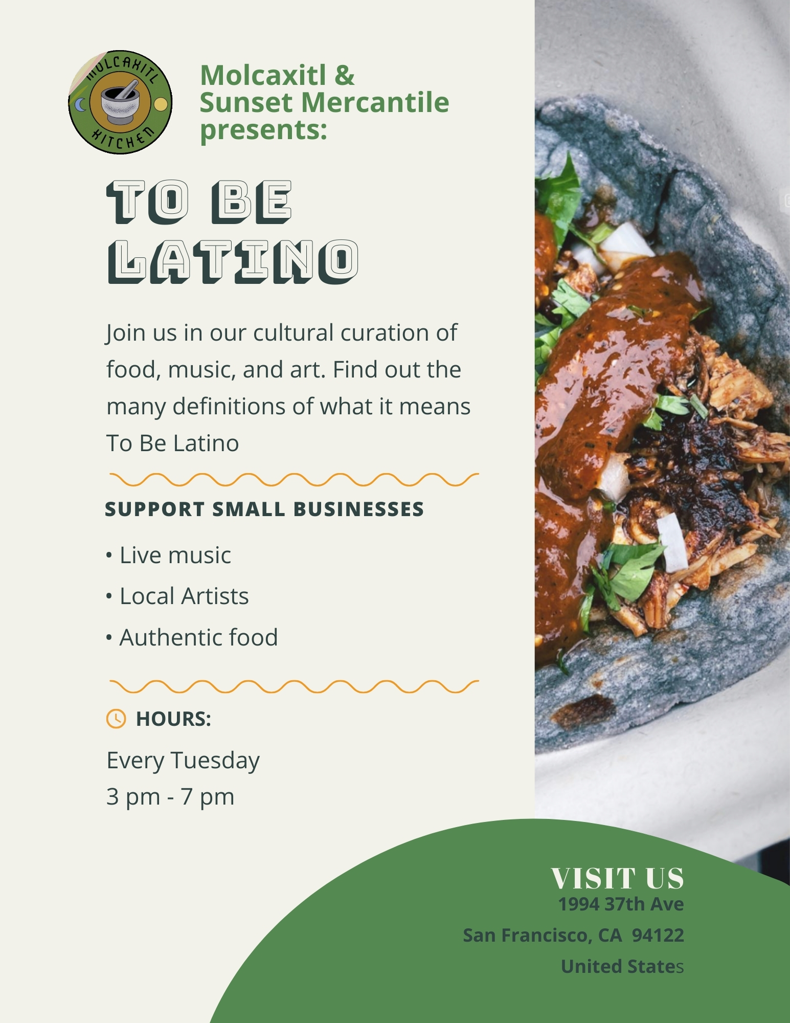 Sunset Community Mercantile: To Be Latino